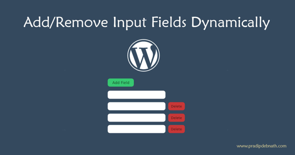 Dynamically Add/Remove Input Fields in WordPress Metabox
