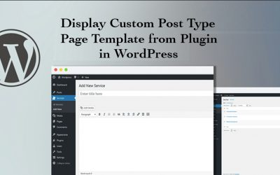 Custom post type page template from plugin