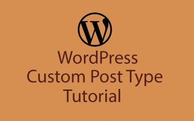 WordPress Custom Post Type Tutorial