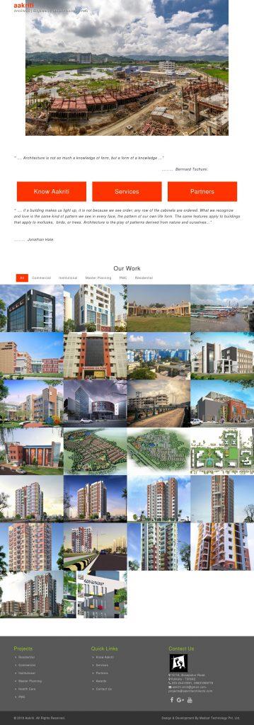 Real Estate Architects & Designer Website Development Portfolio