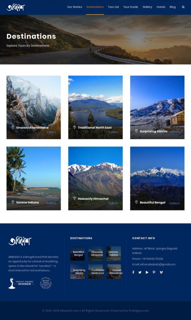 Tour & Travel Website Development Portfolio