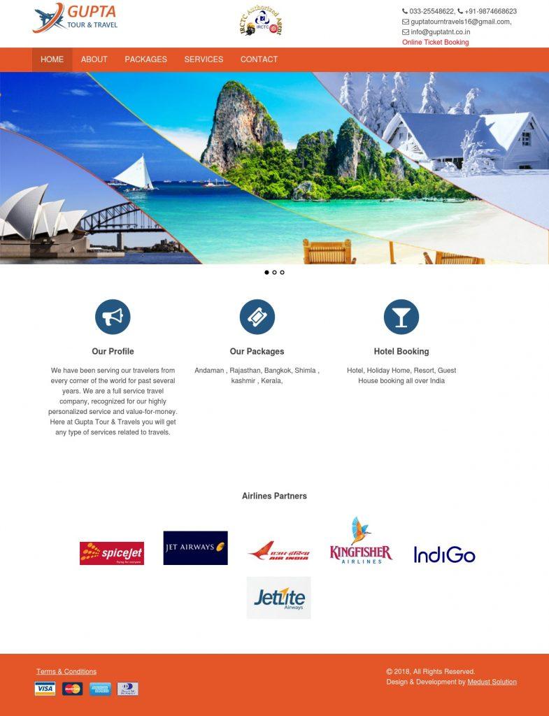 Tour & Travel Website Full Layout