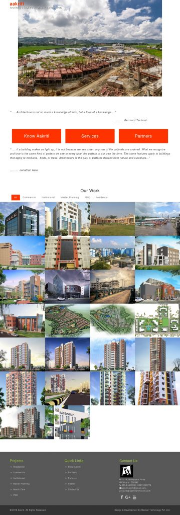 Real Estate Architects & Designer Website Development Portfolio
