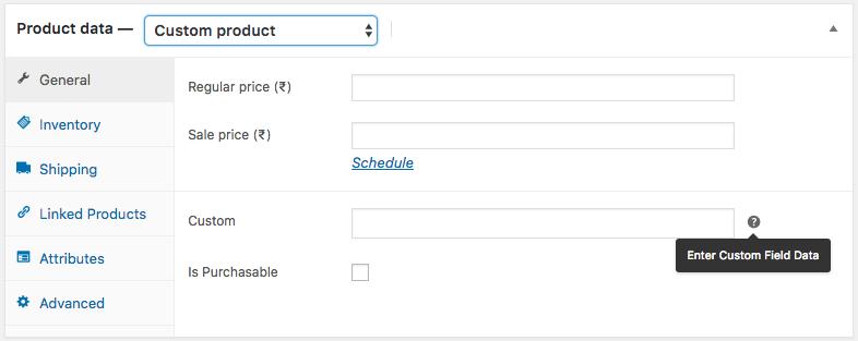 Add Custom Fields to Custom Product Type