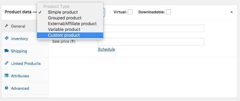 Custom Product Type WooCommerce Demo